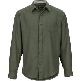 Marmot Hobson Midweight Flannel Langarmshirt Herren rosin green heather